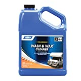 Camco  Wash & Wax Cleaner for RVs, Trailers, and Vehicles - Contains 100% Carnauba Wax |Provides a Clean Shiny Finish without Buffing| Waterproof Resistant Beading Action - 1 Gallon (40498)