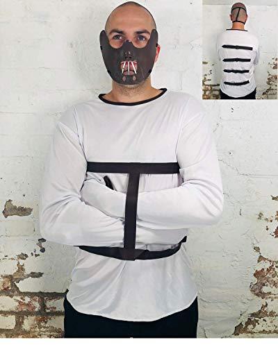 Rubber Johnnies Adult Hannibal Costume , inc Mouth Muzzle Mask , Strait Jacket , Convict Prisoner , Halloween