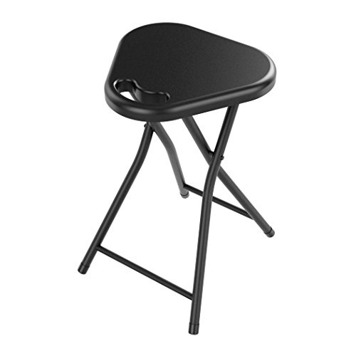 Atlantic Folding Stool with Handle, Black (4-Pack) by Atlantic