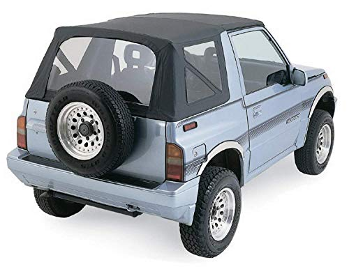 Rampage Products 98935 Factory Replacement Soft Top for 1999-2002 Suzuki Vitara/Geo Tracker, Black Diamond w/Tinted Windows (Renewed)
