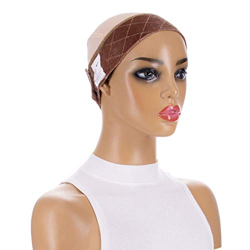 GripCap by Milano Collection All-in-1 WiGrip Comfort Band and Wig Cap in Tan]()