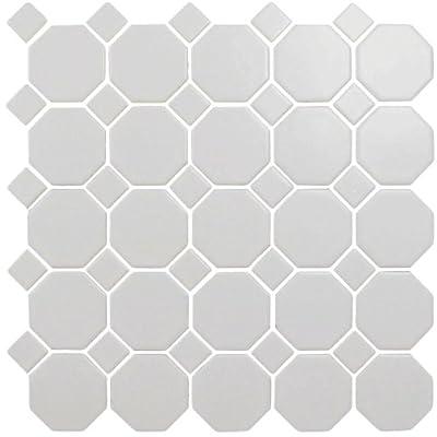 Snow White 12X12 Octagon Mosaic- 11 pcs/carton (11 sq ft)
