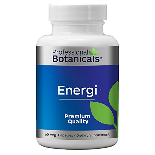 Professional Botanicals Energi - Vegan Adaptogen Boost for Mental Clarity, Energy and Stress Support - 60 Vegetarian Capsules -