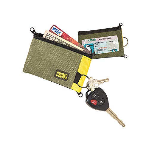 (Chums 18401171 Surfshorts Wallet, Olive/Yellow)