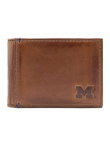 Michigan Wolverines Mens Leather - 9