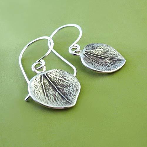 Sterling Silver Leaf Earrings - ()