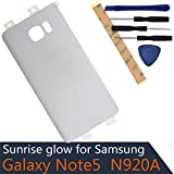 Battery Door Cover Verizon Compatible with Samsung Galaxy Note5 N920T N920A N920I N920G White