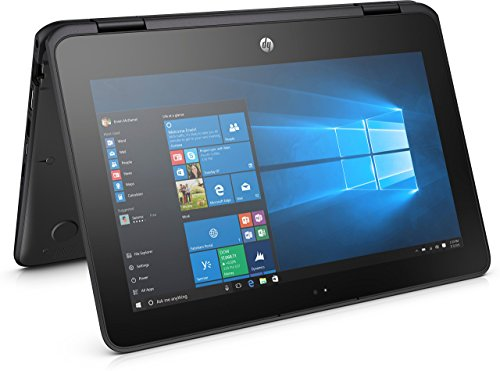 HP ProBook x360 11.6in G1 EE Notebook, LED HD Touchscreen, Intel Celeron N3350 Dual-Core 1.1GHz, 4GB DDR3, 64GB SSD eMMC, 802.11ac, Bluetooth 4.2, Win10Pro - 64Bit ()