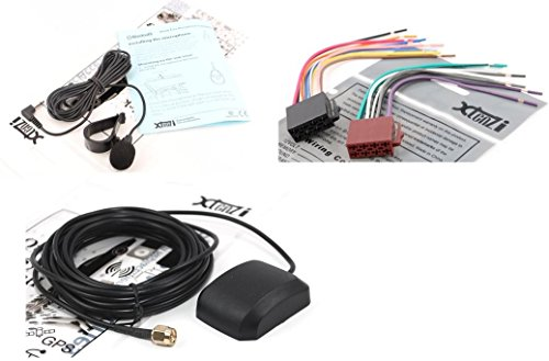 Xtenzi Connection Cable Set Compatible with Pioneer App radio SPH-DA01 SPH-DA02 GPS Antenna MIC Wire Harness 3PCS by Xtenzi (Image #4)
