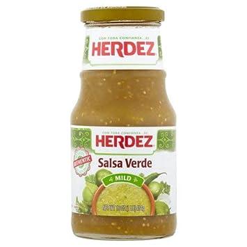 Herdez Mild Salsa Verde 16 oz. Jar - 6 Pack