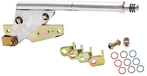 10 E Brake Cable CHR Push Button Floor Handle Ringed Knob For D78E9 American Shifter 406628 4L60E Shifter Kit