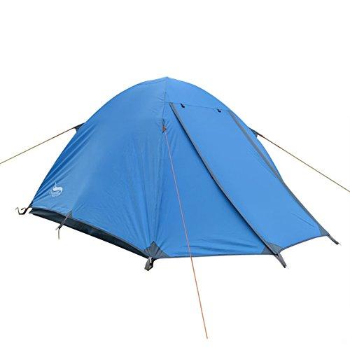 3-4 gens double tente Personne extérieure tentes camping résistant à la tempête tente de poteau en aluminium