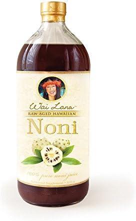 100% Pure Raw Aged Hawaiian Noni Juice, 32 Oz - Wai Lana - Antioxdants