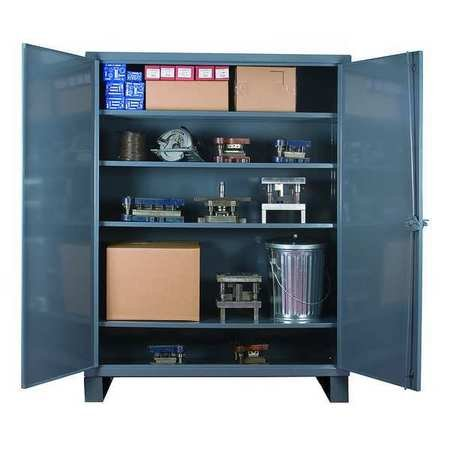 Durham Extra Heavy Duty Welded 12 Gauge Steel Lockable Storage Cabinet, HDC-203678-4S95, 1900 lbs Shelf Capacity, 20'' Length x 36'' Width x 78'' Height, 4 Shelves