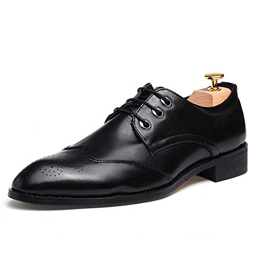 Scarpe Nero Casual Business Cricket Oxford da Brogue Scarpe Simple Uomo Punta a da Trend Comode 66T0Swqr