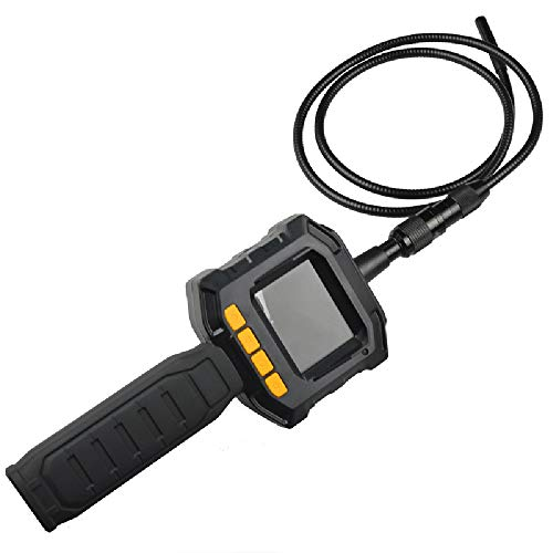 (HJJH HD Borescope Inspection Camera with Color LCD Screen, Industrial Endoscope,IFM Optics Digital Endoscope Semi-Rigid Snake Camera Kit with Tool Box(Does not Contain Battery))