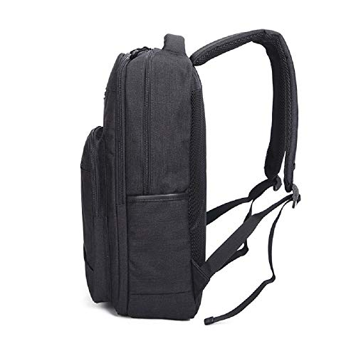 cm Estudiante Exterior Ocio Wjp gris Hombre De Portátil Para mochila Viaje Claro Mujer Lona Y Mochila Negro Bolsa S1wR8q1xva