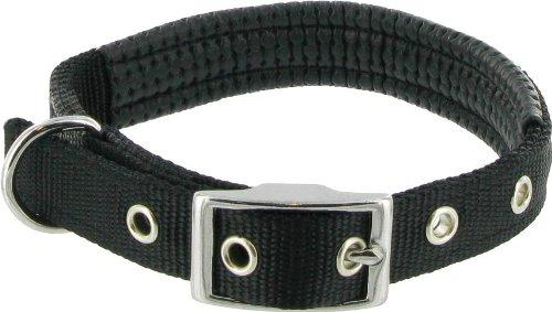 Kakadu Pet Galaxy Padded Nylon Dog Collar, 1-Inch by 28-Inch, Black, My Pet Supplies