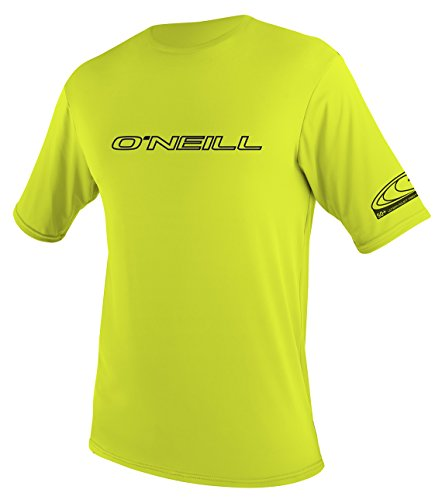 O'Neill Wetsuits Wetsuits UV Sun Protection Youth Basic Skins Short Sleeve Tee Sun Shirt Rash Guard, Lime, 16 ()