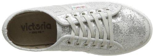 Victoria Blucher Glitter Plataforma - Zapatillas Mujer Plateado (Argent (Plata))