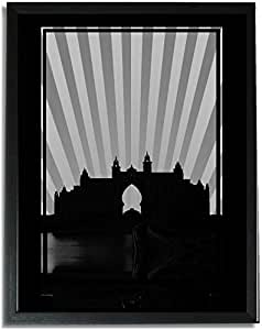 Atlantis - Black And White No Text F09-m (a1) - Framed