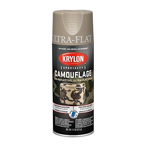(Krylon K04291000 Fusion for Plastic Technology Aerosol Spray Paint, 11-Ounce, Camouflage Khaki, 11 oz, )