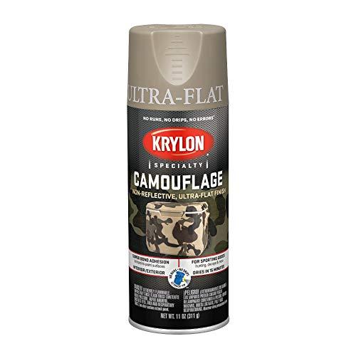 Khaki Earth - Krylon K04291000 Fusion for Plastic Technology Aerosol Spray Paint, 11-Ounce, Camouflage Khaki, 11 oz,