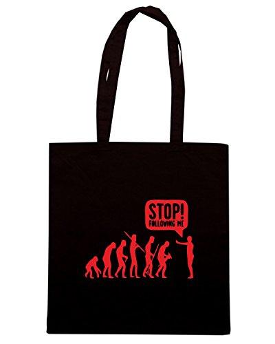 T-Shirtshock - Bolsa para la compra EVO0055 Stop Following Me Maglietta Negro