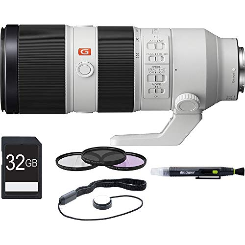 Sony SEL70200GM FE 70-200mm F2.8GM OSS E-Mount Lens + 64GB Ultimate Filter /& Flash Photography Bundle