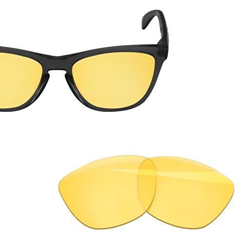 BlazerBuck Anti-salt Replacement Lenses for Oakley Frogskins - High Intensity yellow
