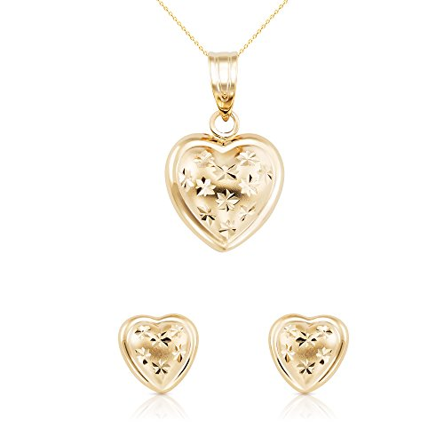 Solid Yellow Gold Heart Jewelry