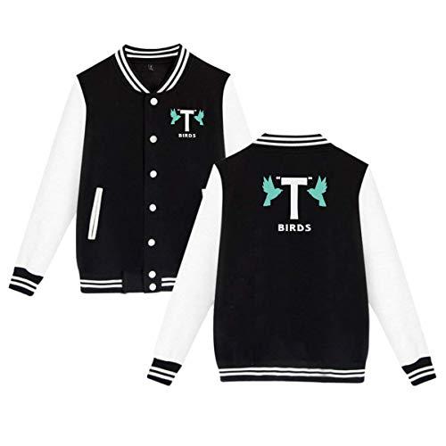 T Birds Gang Logo Mens Women Classic Baseball Uniforms Brushed Keep Warm Jackets]()