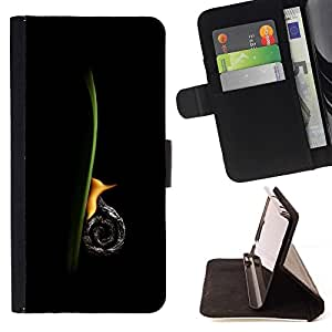 For Sony Xperia Z1 L39 Snail Vertical Beautiful Print Wallet Leather Case Cover With Credit Card Slots And Stand Function