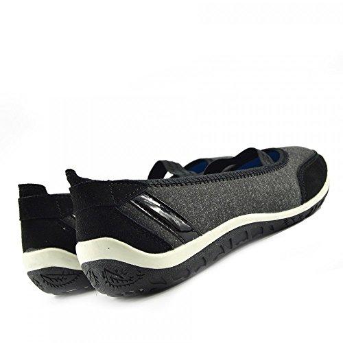 Camminare Ballerina Comfort Donna Scarpe Mary Piatto f80209 Jane Nero Ladies Footwear Kick Pompe 8ATvY