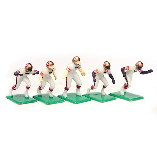 Tudor Games 4-15-W NFL Away Jersey - San Francisco 49Ers Alternate Uniform 11 Electric Football Players, Multicolor (Pack of 11)