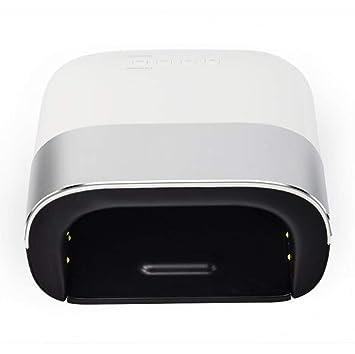 OKMIJNBH (48W) Secadores De Uñas-Lámpara UV Y LED para Uñas Secadores Profesional Luz Púrpura Detección Infrarroja No Lastimará La Mano 10 Segundos De ...