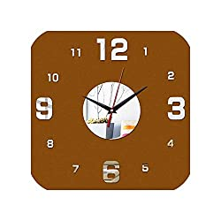 Wenzi-day New Wall Clock 3D Clocks Watch Quartz Living Room Modern Stickers,Silver