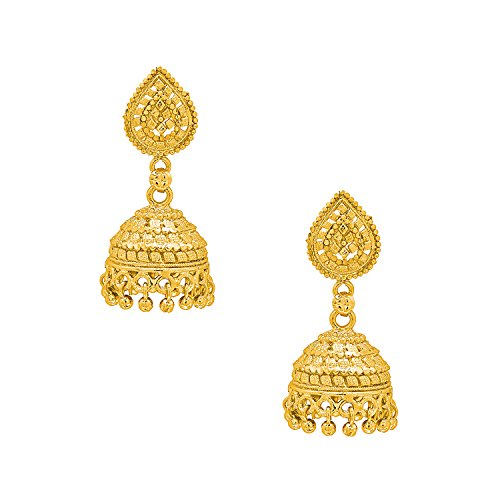 Bodha 18k Gold Plated Traditional Indian Jhumka Earrings (SJ_1030)