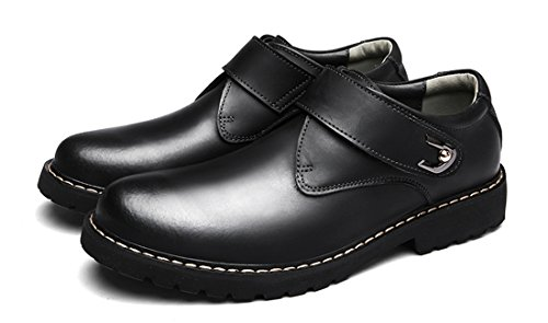 TDA Mens Slip-on Loafers Rubber Sole Leather Dress Work Office Shoes Black xulsI