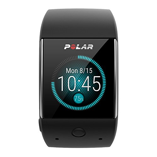 Polar M600 (Black) GPS Watch BUNDLE with Extra Band (White) & PlayBetter Wall/Car USB Charging Adapters   Sports GPS Smartwatch with Wrist-Based Heart Rate by PlayBetter (Image #1)
