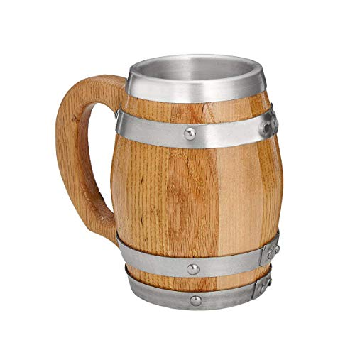 Oak Barrel Mug with Stainless Steel Interior - 16 oz for sale  Delivered anywhere in USA