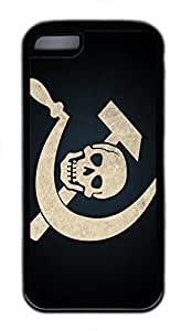 iPhone 5C Case, iPhone 5C Cases - Black Soft Rubber Shock-Absorption Bumper Case for iPhone 5C Very Cool Skull For Dekstop Water Resistant Back Case for iPhone 5C hjbrhga1544