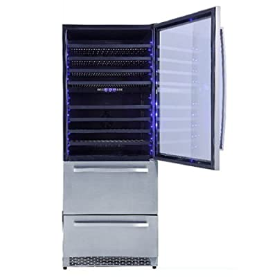 Thor 128 Bottle 600L Stainless steel Wine Cooler & Drawers Winer Cooler
