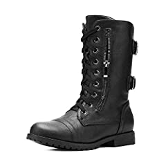Look striking this winter with these amazing military combat booties, with their super soft tough military style, soft faux fur lining and built in pocket wallet design acts as a great versatile style which is sure to keep you warm and stylis...