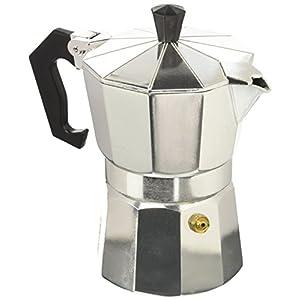 Caffettiera da 3 tazze, design classico, in alluminio, per alimenti, guarnizione in silicone, 222 g.