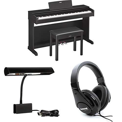 Grand Adjustable Lamp Piano (Yamaha Arius YDP-143B Essential Piano Bundle - Black Walnut)