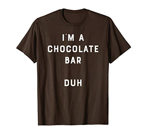 Easy Halloween Costume Shirt Chocolate Bar Funny DIY Outfit]()