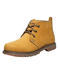Insun Men's Leather Ankle Laces Work Boot