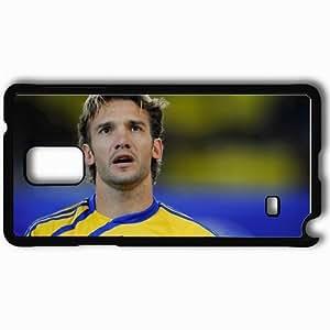 Personalized Samsung Note 4 Cell phone Case/Cover Skin Andriy Shevchenko Football Ukraine Black