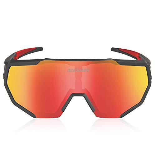 Queshark Gepolariseerde Fietsbrillen Met 3 Verwisselbare Lenzen Voor Heren Dames Hardlopen Rijden Vissen Golf…